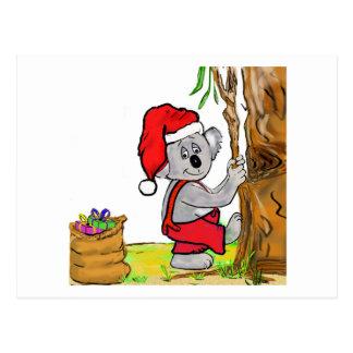 Koala Santa Postcard