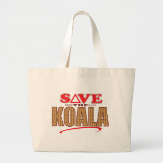 Koala Save Large Tote Bag