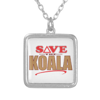 Koala Save Silver Plated Necklace