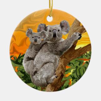Koala Sunset Christmas Ornament