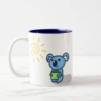 Koala Sunshine - Blue Two-Tone Coffee Mug