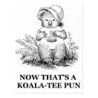 Koala-tee Pun Postcard