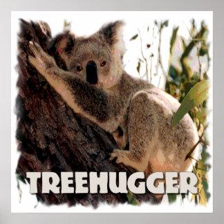 koala treehugger print