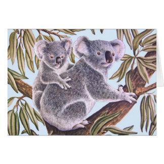 Koala with Baby Card