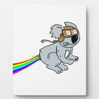 Koala with rainbow plaque