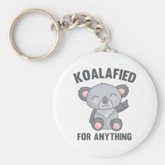 Koalafied For Anything Basic Round Button Key Ring