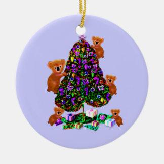 Koalas Christmas Morning Ornaments