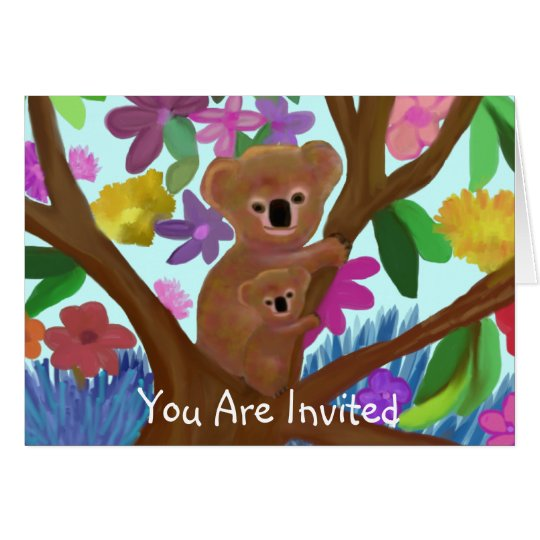Koalas Invitation Card