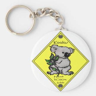 Koala's Next 10km Basic Round Button Key Ring