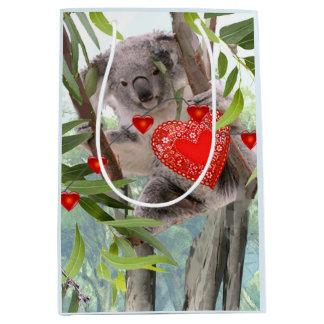 Koalas Valentine's Day Party Medium Gift Bag