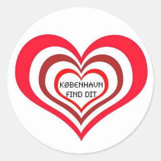 København Find Dit ♥ Sticker one