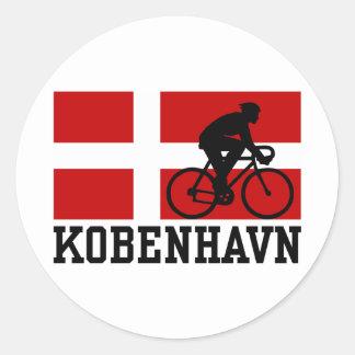 Kobenhavn (male) round sticker