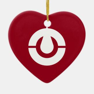 Kochi Flag Heart Christmas Ornament