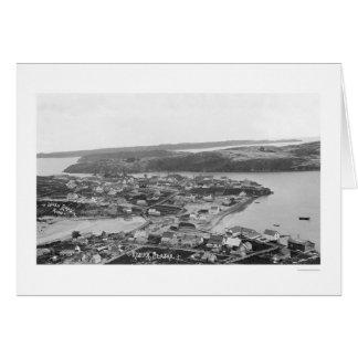 Kodiak Alaska Aerial View 1920 Greeting Cards