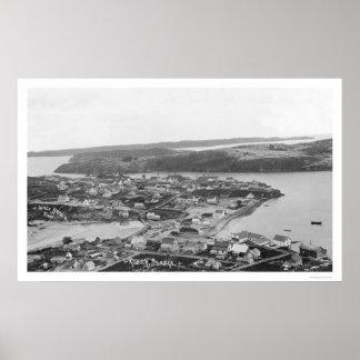 Kodiak Alaska Aerial View 1920 Posters
