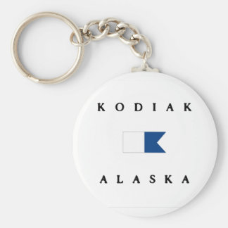 Kodiak Alaska Alpha Dive Flag Key Ring