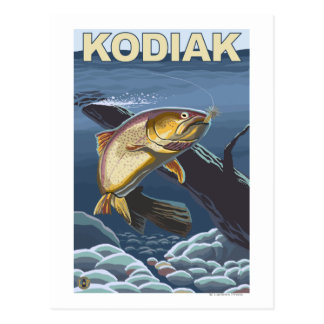 Kodiak AlaskaCutthroat Trout Cross-Section Post Cards