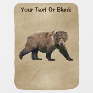 Kodiak Bear Baby Blanket
