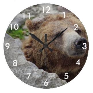 Kodiak Bear Large Clock