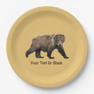 Kodiak Bear Paper Plate
