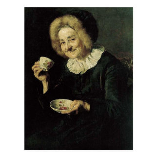 Kofetarica Coffee Drinker Painting Postcard