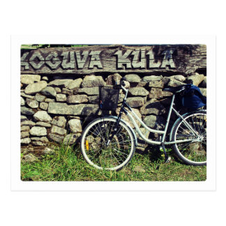 Koguva village bicycle postcard