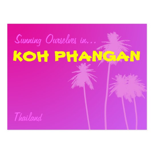 Koh Phangan Thailand Postcard