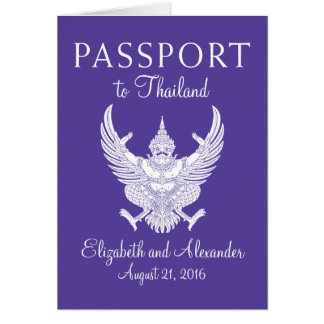 Koh Samui Thailand Wedding Passport Card