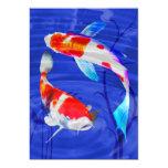 Kohaku Duo in Deep Blue Pond Personalised Announcement