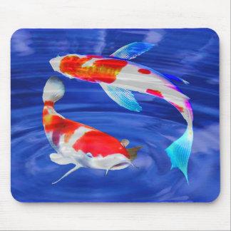 Kohaku Duo in Deep Blue Pond Mousepad