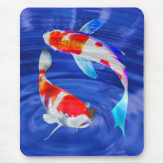 Kohaku Duo in Deep Blue Pond Mouse Pad