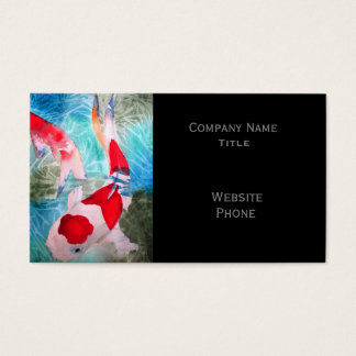 Kohaku Koi 2 Japanese Fish stylish oriental Business Card
