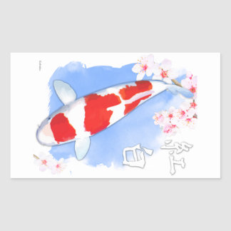 Kohaku Koi Rectangular Sticker