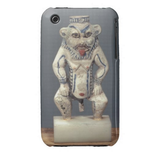 Kohl Pot, depicting the Egyptian household god Bes iPhone 3 Case-Mate Cases