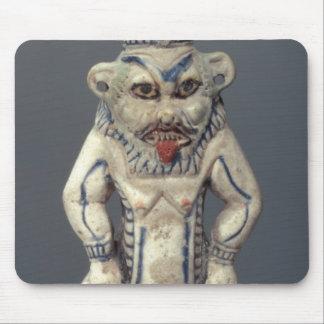 Kohl Pot, depicting the Egyptian household god Bes Mouse Mat