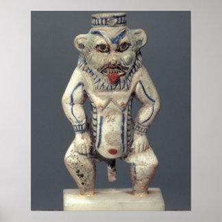 Kohl Pot, depicting the Egyptian household god Bes Poster