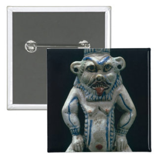 Kohl pot in the form of the god Bes, New Kingdom, 15 Cm Square Badge