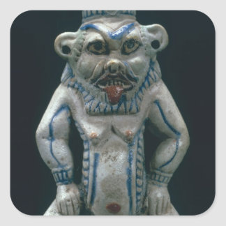 Kohl pot in the form of the god Bes, New Kingdom, Square Sticker