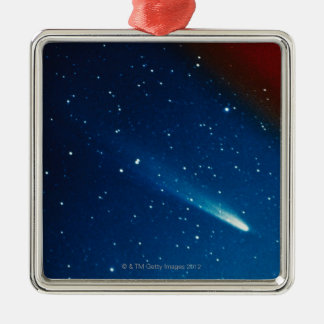 Kohoutek Comet Silver-Colored Square Decoration