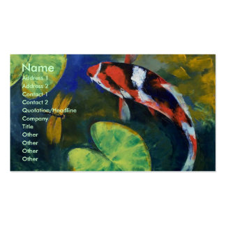 Koi and Dragonfly Business Card
