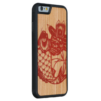 """Koi and lotus Phone case"" Cherry iPhone 6 Bumper"