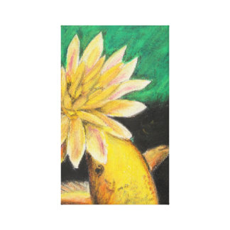 Koi And the Lotus Flower Canvas Print