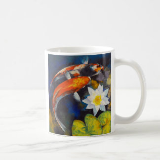 Koi and Water Lily Mug