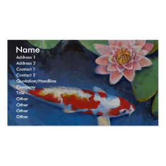 Koi and Water Lily Pack Of Standard Business Cards
