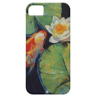 Koi and White Lily iPhone 5 Cases