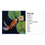 Koi and White Lily Pack Of Standard Business Cards