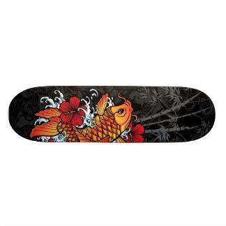 Koi Bamboo Custom Skateboard
