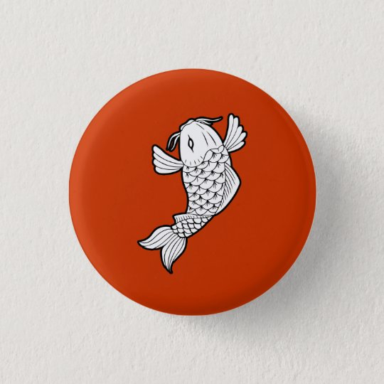 Koi / Carp 鯉 Pictogram Button