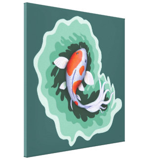 Koi Carp Artwork Canvas Print