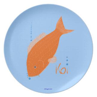 Koi Carp Decorative Plate